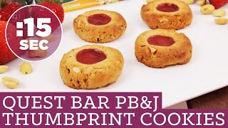 Easy Healthy 15 Second Quest Bar Peanut Butter And Jelly Cookies Recipe! #15secondrecipe