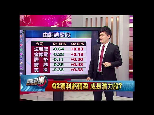 股市現場*鄭明娟20180823-5【高檔出量 股價才是關鍵 帶量下跌股小心!Q2獲利虧轉盈潛力股?】(胡毓棠)