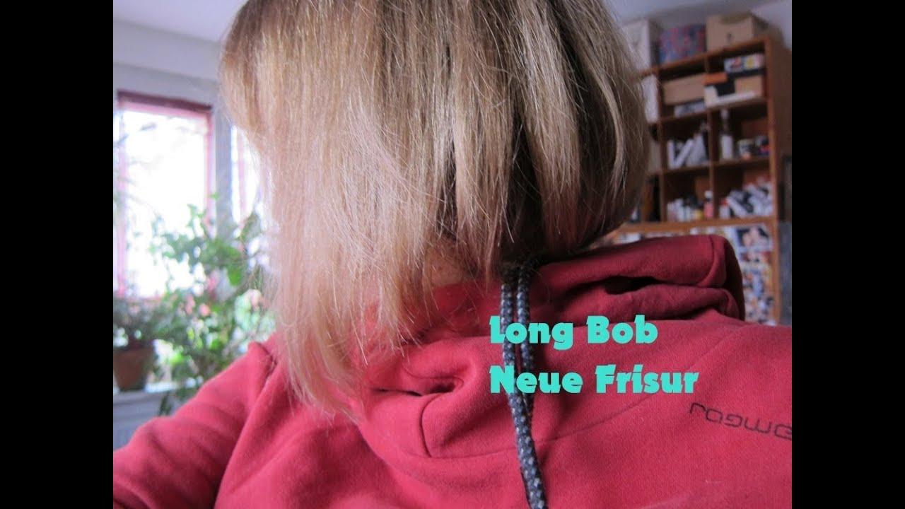 Haare Long Bob Neue Frisur Von Langem Dünnen Haar Zu