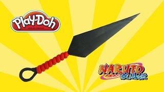 play doh Naruto Kunai - how to make with playdoh