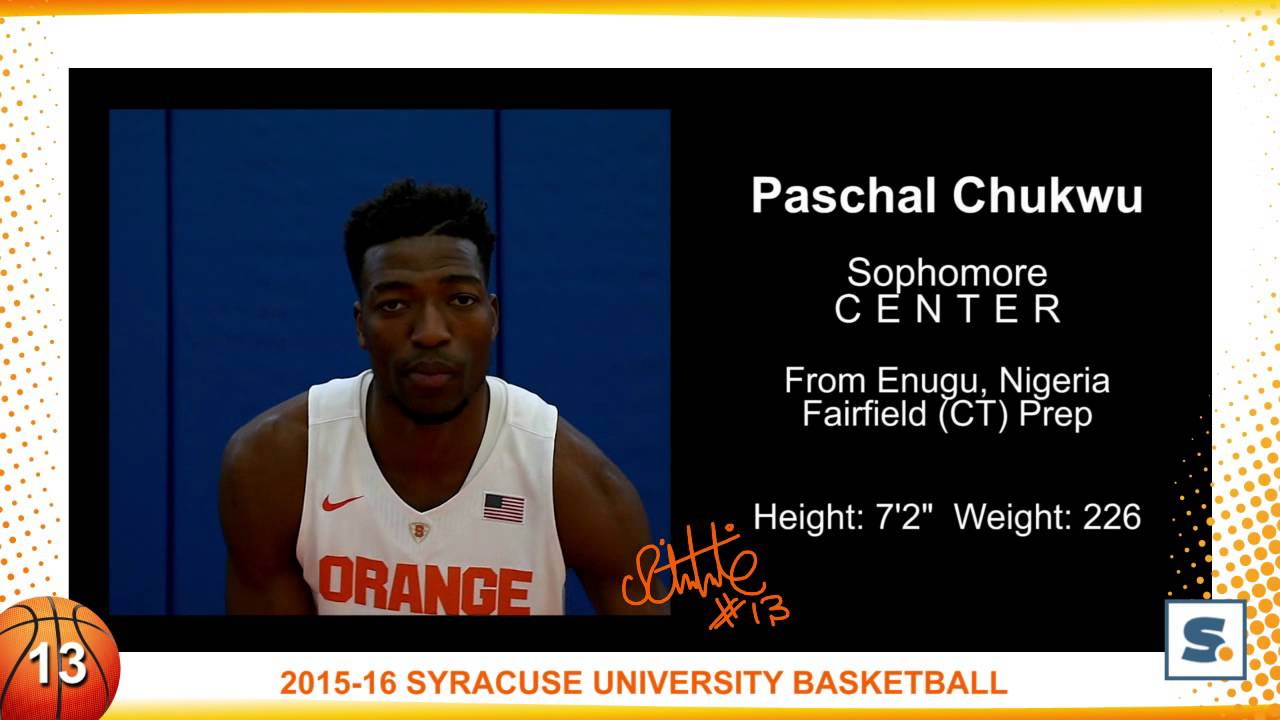 Syracuse Orange Basketball Paschal Chukwu Youtube