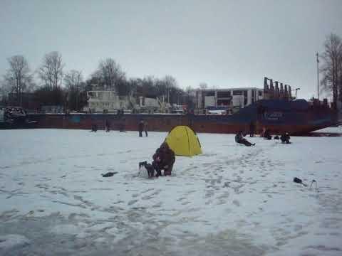 Рыбалка в Шлиссельбурге.