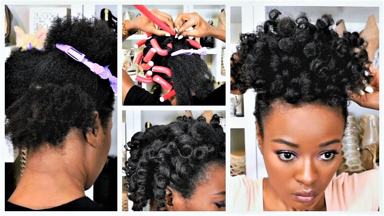 One Pack Heatless Flexi Rods On Natural Hair Luxeorganix Youtube