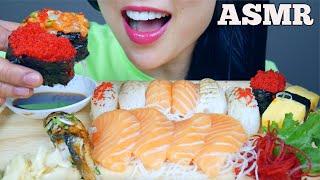 ASMR SUSHI PLATTER *SASHIMI + NIGIRI + ABURI (EATING SOUNDS) NO TALKING   SAS-ASMR