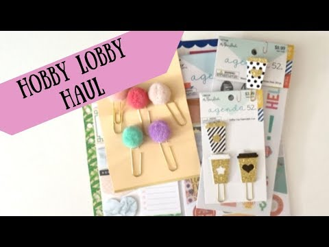 Hobby Lobby Haul | Planner Accessories