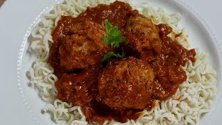Meatballs in Guajillo Sauce with Michael's Home Cooking