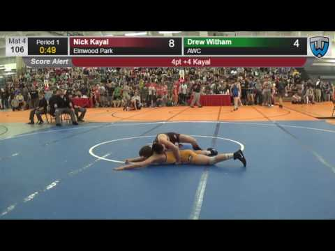 527 Cadet 106 Nick Kayal Elmwood Park vs Drew Witham AWC 4137717104