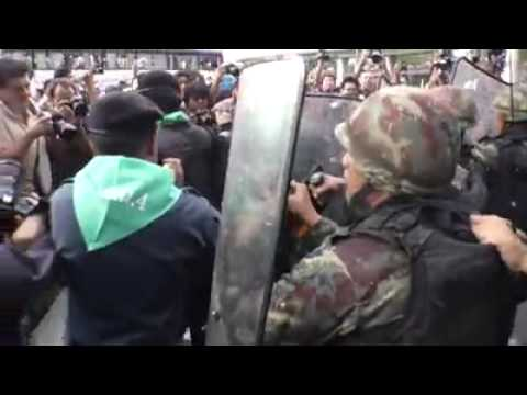 Protests in Victory Monument. Coup d'État Thailand 2014