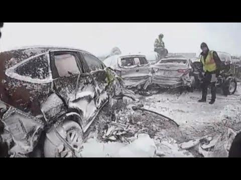 131 Vehicles Involved in Massive Pileup