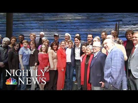Justin Trudeau Attends Broadway On International Friendship With Ivanka Trump | NBC Nightly News