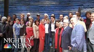 Justin Trudeau Attends Broadway On International Friendship With Ivanka Trump   NBC Nightly News