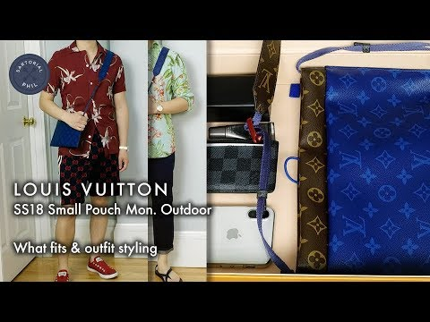 37ad77c11cff Louis Vuitton  LVMenSS18 Small Pouch Monogram Outdoor  What fits   outfit  styling