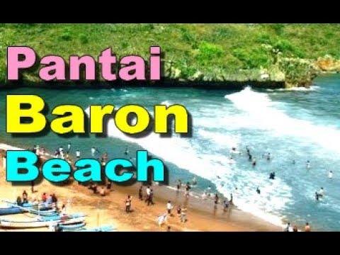PANTAI BARON Beaches in WISATA Gunung Kidul YOGYAKARTA Indonesia TOURISM [HD]