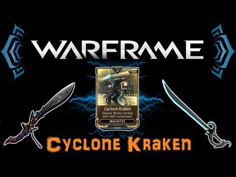 [U20.6] Warframe - Cyclone Kraken Stance - Machetes Are Actually Very Strong!   N00blShowtek