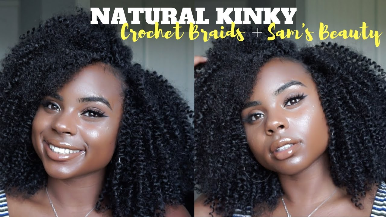 Poppin Natural Crochet Braids Outre Xpression 4a Kinky Loop Hair