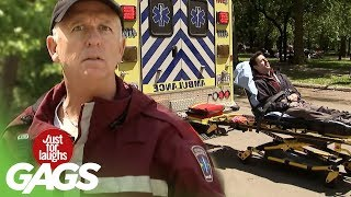 Ambulance Trailers a Patient to Hospital - Just For Laughs Gags