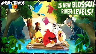 Angry Birds Rio 2 Blossom River All Levels 3 Star Walkthrough