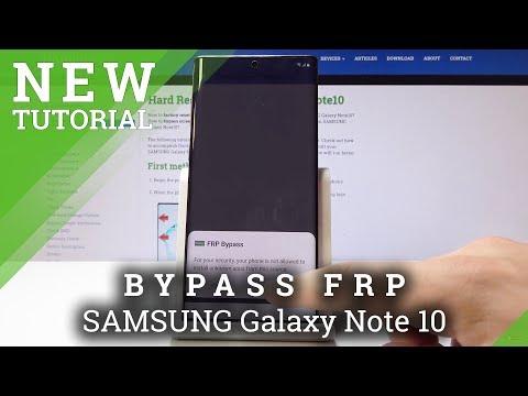 SAMSUNG Galaxy Note 10 Bypass Google Verification / Skip Google Protection