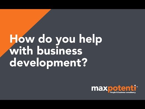 How do you help with business development?