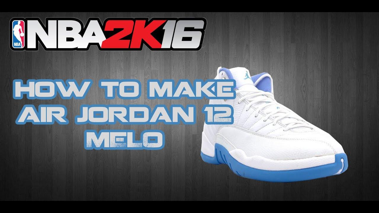 NBA 2K16 CUSTOM SHOES | HOW TO MAKE CUSTOM SHOES: AIR JORDAN 12