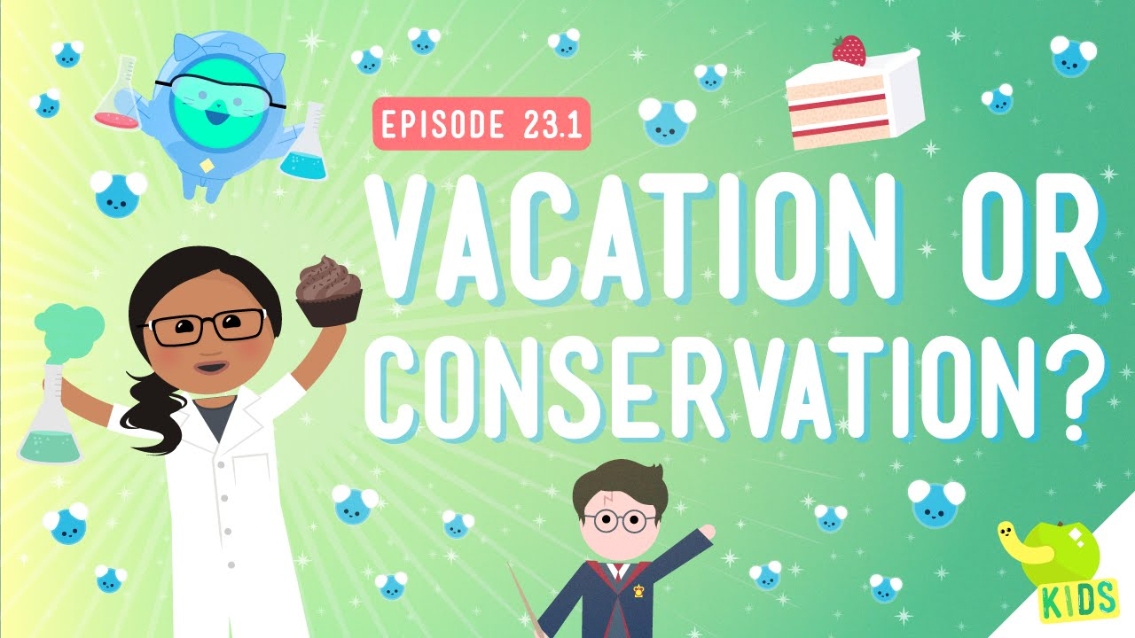 small resolution of Vacation or Conservation (Of Mass): Crash Course Kids #23.1 - YouTube