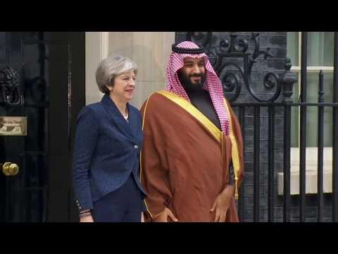 Saudi Crown Prince arrives at Downing Street to meet Theresa May