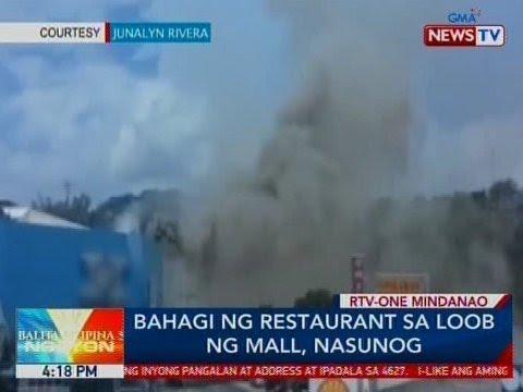 BP: Bahagi ng restaurant sa loob ng mall, nasunog sa Cagayan de Oro City