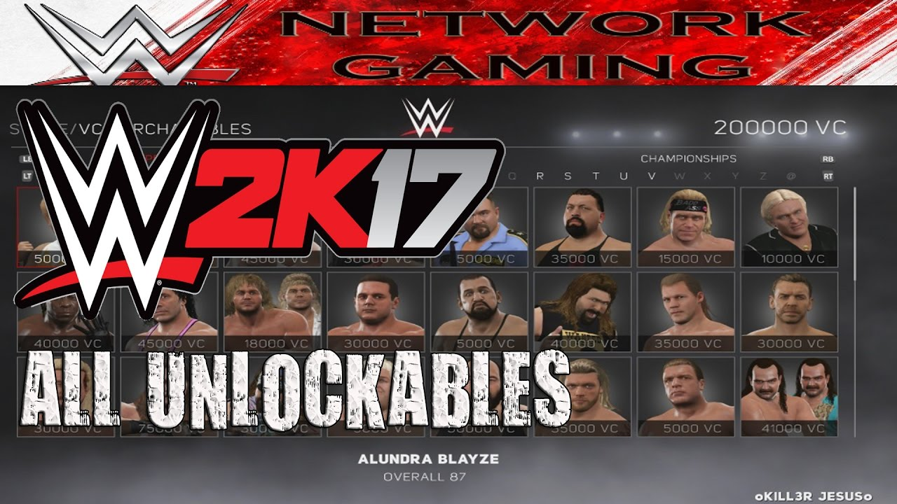 <b>WWE 2K17</b> ALL <b>Unlockables</b> - XBOX 360 / XBOX ONE / PS3 / PS4 - YouTube