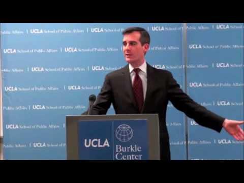 LA City Council President Eric Garcetti at UCLA