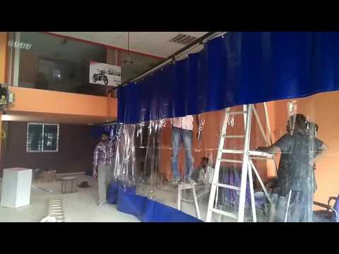 Wash bay curtains, screen, chennai, bangalore
