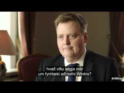 Viðtal við Sigmund Davíð um Wintris - Kastljós 3. apríl 2016