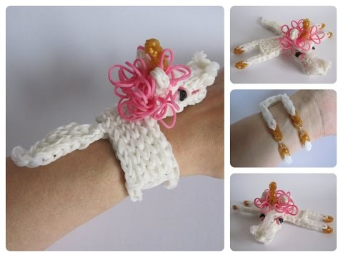 Rainbow Loom unicorn horse bracelet Loombicious