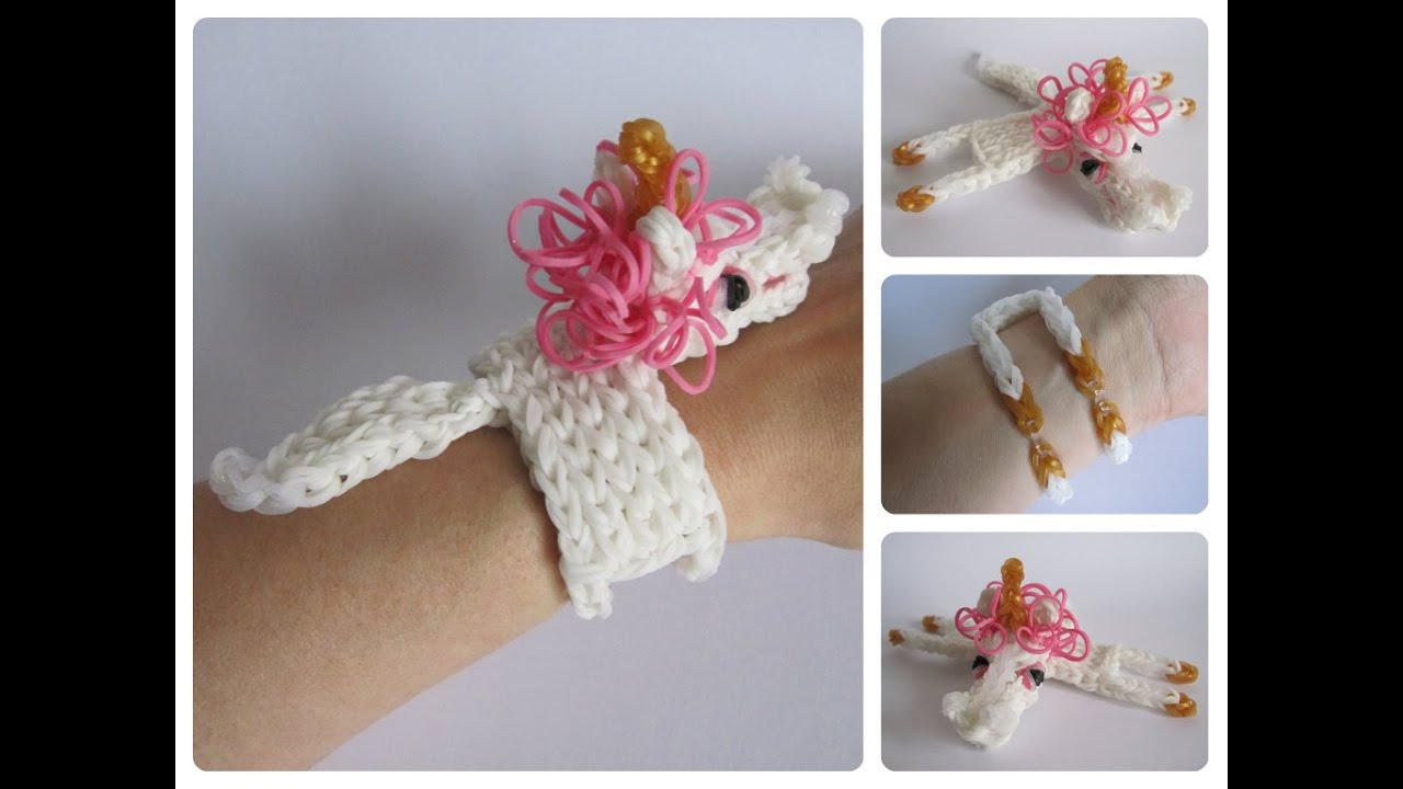 Rainbow Loom Unicorn Horse Bracelet Loombicious Youtube