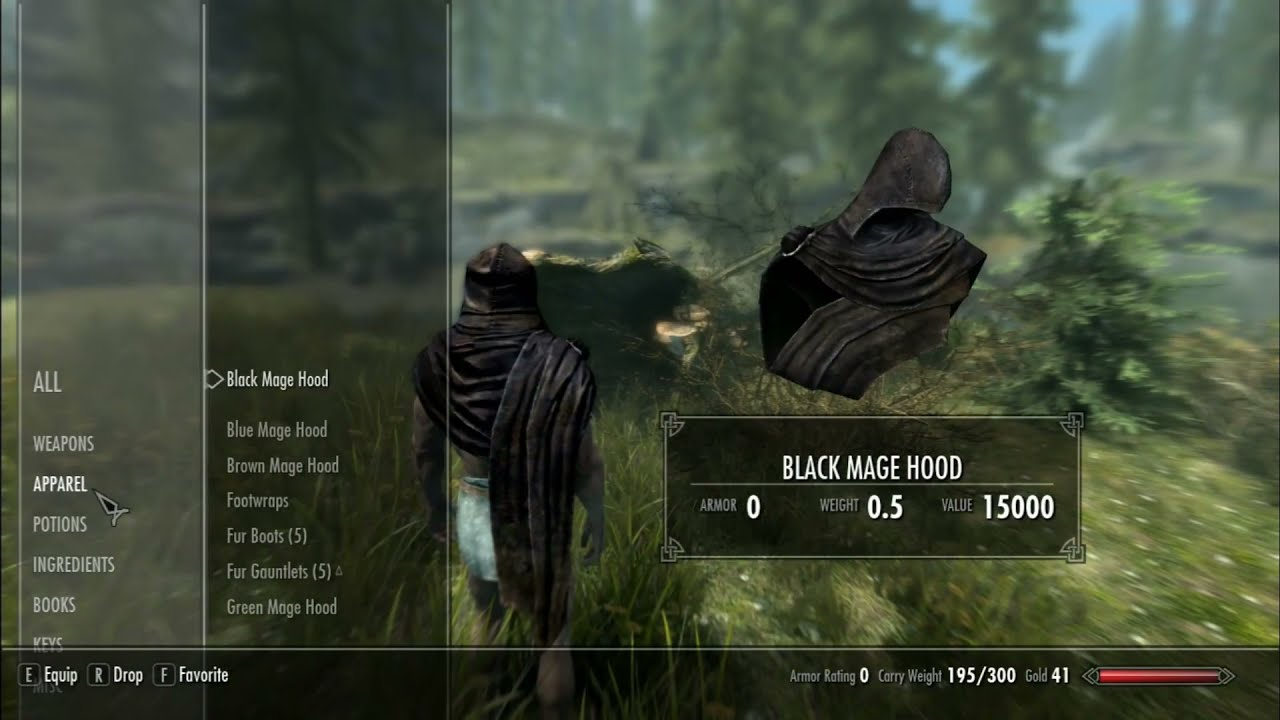 Skyrim Mods: Imperial Agent's Wearable Mage Hood Pack (PS4/XBOX1)