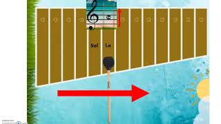 Capsule pédagogique - Les notes sur la portée et sur le xylophone
