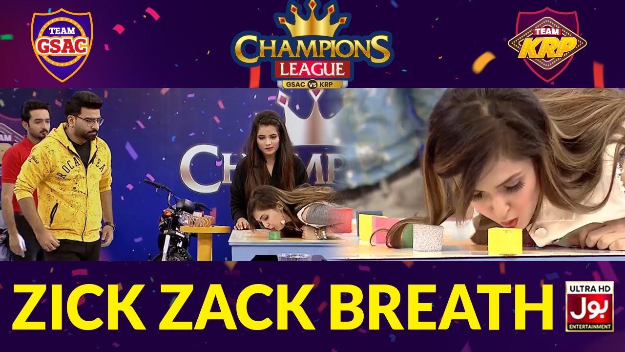 Zick Zack Breath | Champions League | Game Show Aisay Chalay Ga vs Khush Raho Pakistan