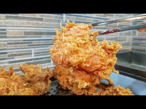 Cách pha bột chiên gà