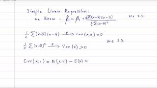 ECO375F 5 4 Proof Of Consistency For The OLS Estimator