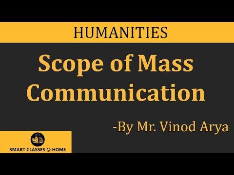 Scope of Mass Communication by  Mr. Vinod Arya, Biyani Groups of Colleges