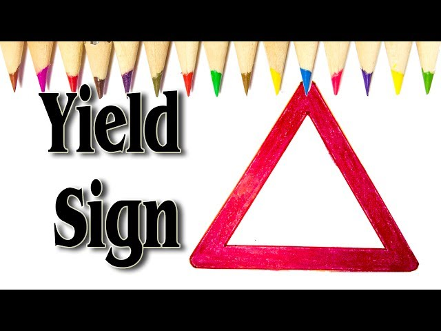 How to Draw Yield Sign step by step - SLD