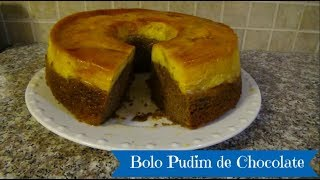 Brazilian Chocolate Flan Cake - Bolo Pudim de Chocolate