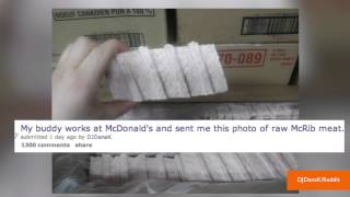 Photo of Supposed Frozen McDonald's McRib is Terrifying