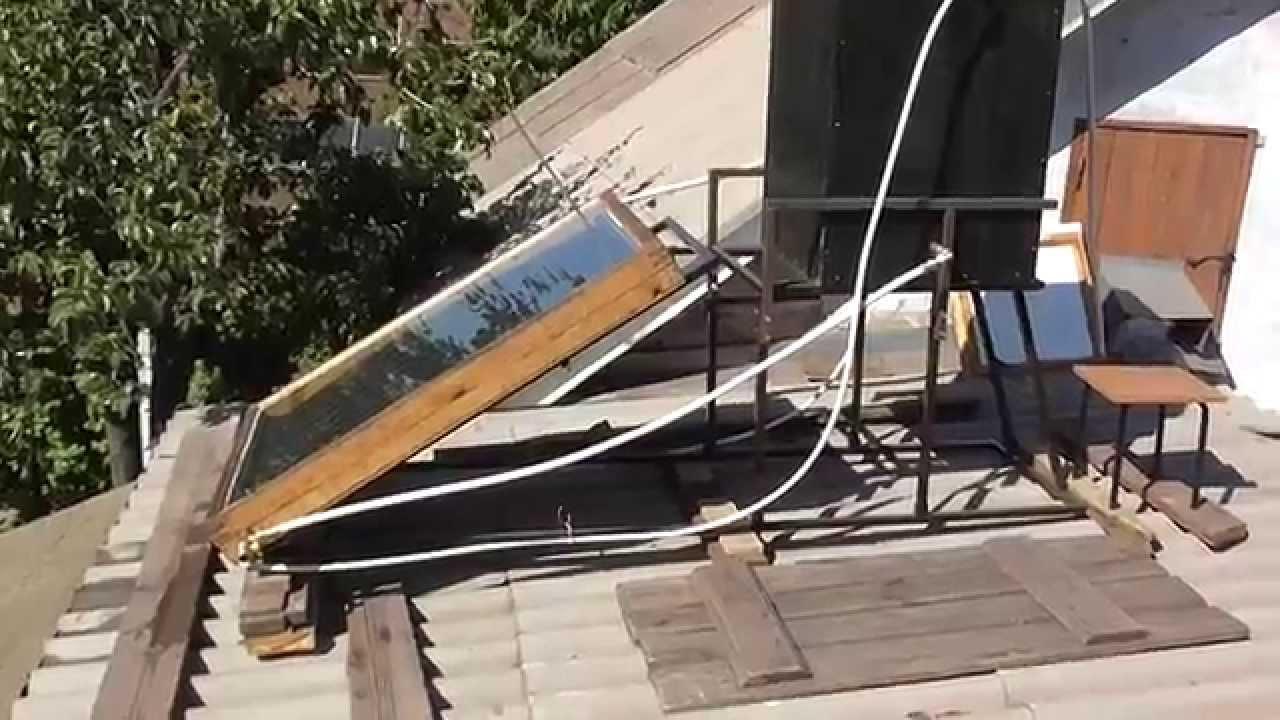Солнечный коллектор своими руками видео ютуб фото 391