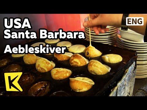 【K】USA Travel-Santa Barbara[미국 여행-샌타바버라]덴마크식 팬케이크 에이블스키버/Bread/Homemade/Pancake/Aebleskiver