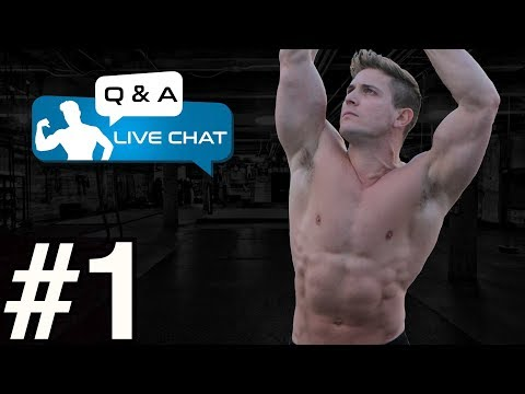 LIVE Q & A! How To Build Blocky ABS! Eating Enough Calories For Growth?