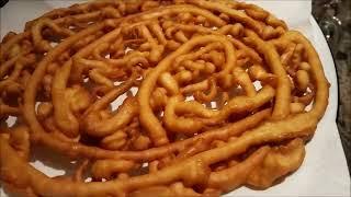How To Make Funnel Cakes | Carnival Cake Recipe | Jumbo Jalebi Recipe