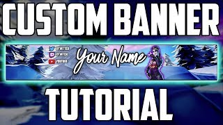 How To Make A Fortnite Banner FREE | How To Make A YouTube Banner Without Photoshop! (Pixlr Tutorial)
