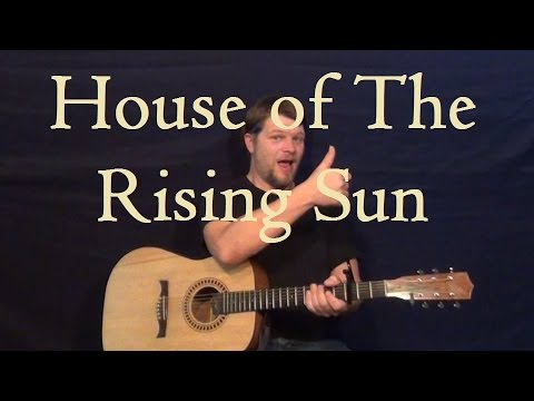 House of the Rising Sun (Animals) Guitar Lesson Easy Strum Chords ...
