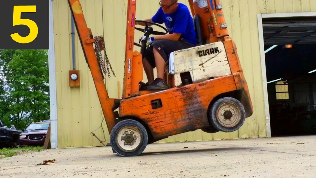 top 5 amazing forklift tricks youtube
