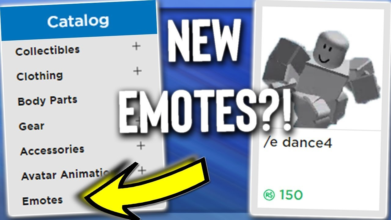Roblox Created New E Emotes Youtube